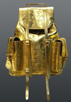 Billionaire Boys Club   Dollars + Diamonds Leather Rucksack in Gold