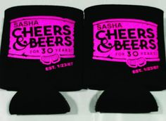 Cheers and Beers to 30th Birthday party favors can coolers 1121843299