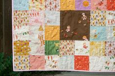 Different size squares - Far Far Away III patchwork quilt