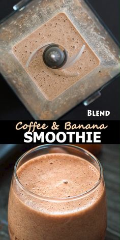 Coffee Banana Smoothie, Coffee Smoothie Recipes, Banana Coffee, Smoothie Drinks, Coffee Recipes, Healthy Coffee Smoothie, Coffee Breakfast Smoothie, Banana Breakfast Recipes, Chocolate Smoothie Recipes