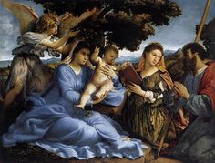 Another reason to visit Vienna. Kunst Historisches Museum.  Lorenzo Lotto, Madonna & Child with Saints and Angel