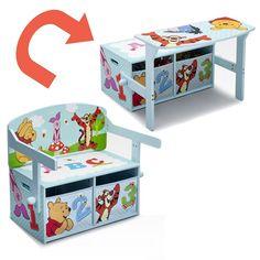 BANCO INFANTIL DE MADERA 3 EN 1 WINNIE THE POOH. DEL TB84988WP, IndalChess.com Tienda de juguetes online y juegos de jardin