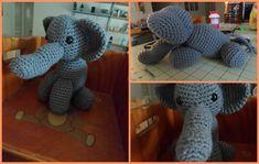 Elefante Amigurumi - Patrón Gratis en Español aquí: http://lasmanualidades.imujer.com/6930/como-hacer-un-elefante-en-crochet