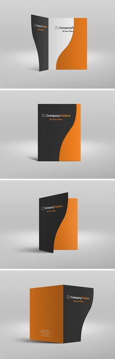 Serpentine Presentation Folder MockUp | GraphicBurger