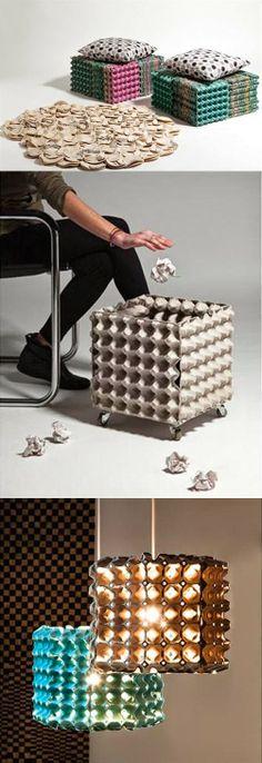 O que fazer com caixas de ovos   À mão com carinho