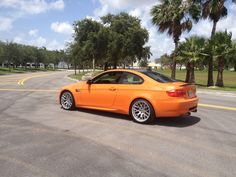 BMW M3 - Lime Rock Park Special Edition.  This was our test drive unit. You can't miss that in-your-face fire orange. #bmw