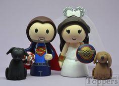 Items similar to Wedding Cake Topper - Superhero Football Groom & Superhero Woman Mouse Ear Bride on Etsy Wedding Cake Toppers, Wedding Cakes, Superhero Cake Toppers, Mickey Mouse, Groom, Football, Disney Characters, Handmade Gifts, Etsy