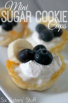 Mini Sugar Cookie Cups