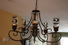 Chandelier with Mason Jars