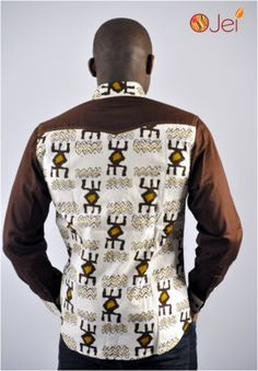 www.cewax a selectionné pour vous ces vêtements hommes ethniques, Afro tendance, Ethno tribal Men's fashion, african prints fashion - Chemise akan spirit by Ojei ! #Afrikrea #Fashion #AfricaPrint # Africa #Wax