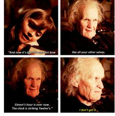 I loved that he said this. It was perfect. So eleven.