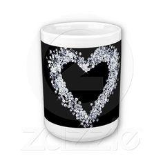 Girly chic Diamond love heart Coffee Mug #zazzle