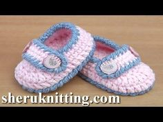 Easy to Crochet  Baby Booties Tutorial 130 - YouTube