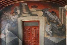 MURAL REVOLUCIÓN Revolución fue pintado en 1938 por el artista oaxaqueño Rufino Tamayo, quien, utilizando la técnica al fresco, plasma en esta obra su visión de un importante pasaje de la historia de México. Revolución, abarca 80 metros cuadrados y presenta una escena de la rebelión de obreros y campesinos contra la burguesía. Está ubicado en la pared inicial derecha y la parte superior de dos arcos del Museo Nacional de las Culturas.