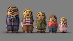 Telstra - Advertising campaign, CGI, animation, illustration, modeling, babushka, russian dolls.