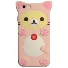 "iPhone 6S Plus Case, MC Fashion Super Cute 3D Pink Bear Protective Silicone Case Cover for Apple iPhone 6/6S Plus 5.5"" (Rilakkuma)"