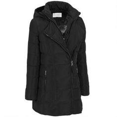 Jessica Simpson Asymmetrical Zip Puffy Jacket