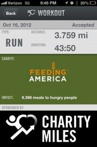 Turning your daily workout into a run for charity.