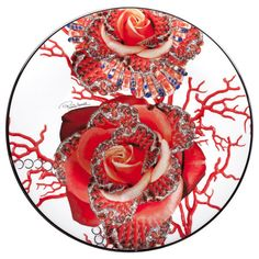 Roberto Cavalli - Platinum Rose Jewel Charger Plate