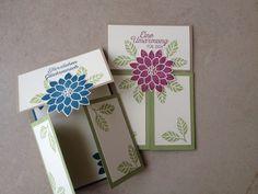 Kreative-Engelmama, Stampin´Up!, Dutch Fold Card, Stempelset Blühende Worte, Savanne, Jeansblau und Himbeerrot