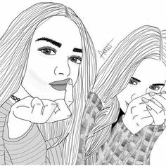 Best friend drawing best friend drawings best friends draw outlines untitled image by on com friend . Tumblr Girl Drawing, Tumblr Drawings, Tumblr Art, Tumblr Hipster, Hipster Images, Tumblr Outline, Outline Art, Outline Drawings, Hipster Drawings