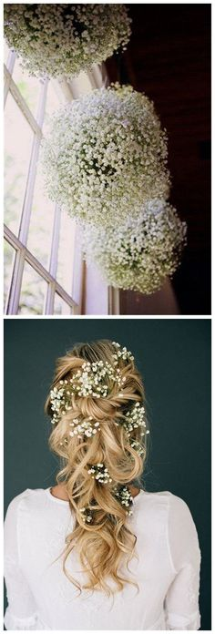 I love Baby's Breath and a lot of these are perfect for my dream wedding. #fastweddingplanning