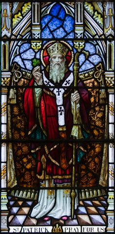 Fifth century bishop. Patron of Ireland. St Patrick was a Roman Briton, born somewhere on the west coast, between the Clyde and the Severn estuary. His father Calpurnius, was a civil official and a deacon. His grandfather was a priest. When Patrick was 16, he was captured by slave traders, and taken to Ireland where he was used as a herdsman, traditionally at Slemish in Antrim.
