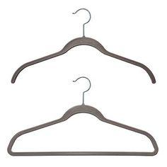 Simple grey hangers to go with the grey, white & orange theme- Platinum Huggable Hangers®