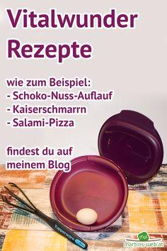 Du bist auf der Suche nach leckeren Rezepten für dein Vitalwunder? Dann schau mal auf meinem Blog vorbei. Tupperware, Pizza Salami, Blog, Kaiserschmarrn, Small Cake, Searching, Foods, Tub