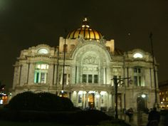 Bellas Artes. Night. DF
