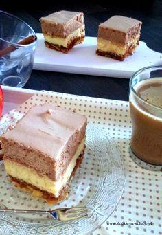 Słodkie Rewolucje: Szarlotka z kremem i musem czekoladowym BEZ PIECZENIA