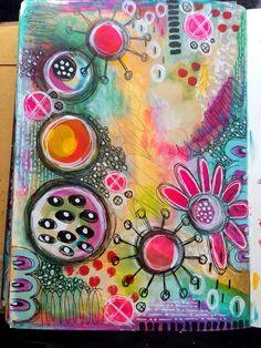 Tracy Scott - Random play art journal page