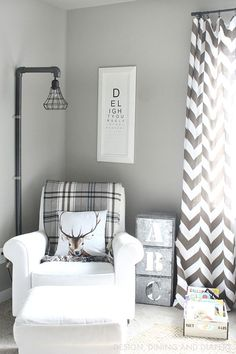Rustic Boy Bedroom. Cute bedroom decor! Like the rustic light fixture. Could really DIY http://designdininganddiapers.com/2015/03/rustic-boy-bedroom-part-1/