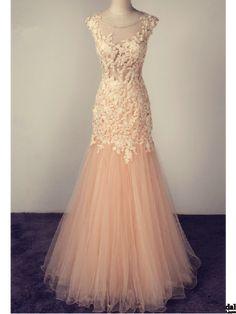 mermaid prom dresses, pink prom dresses, long evening dresses, appliques prom dresses#SIMIBridal #promdresses