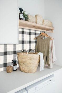 Home Decor / Minimal Interior Design Inspiration – Laundry Room İdeas 2020 Laundry Room Design, Laundry In Bathroom, Small Bathroom, Laundry Rooms, Small Laundry, Basement Laundry, Laundry Area, Target Bathroom, Houzz Bathroom