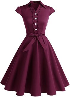 Shop a great selection of Wedtrend Women's Retro Rockabilly Dress Cap Sleeve Vintage Swing Dress. Find new offer and Similar products for Wedtrend Women's Retro Rockabilly Dress Cap Sleeve Vintage Swing Dress. Pretty Dresses, Sexy Dresses, Evening Dresses, Fashion Dresses, Junior Dresses, Fashion Clothes, Robes Vintage, Vintage Party Dresses, 50s Vintage
