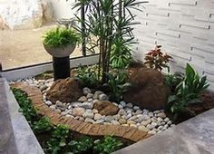 High Resolution Small Rock Garden Ideas #7 Small Front Yard Tropical Landscaping Ideas