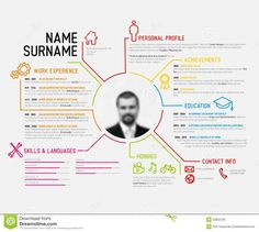 Creative Infographic ResumeCv Template  Misc