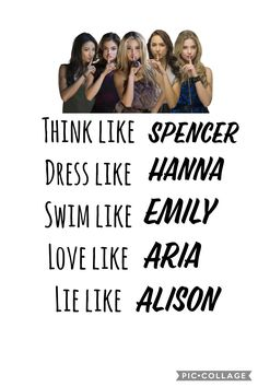 Live like a pretty little liar PLL xx