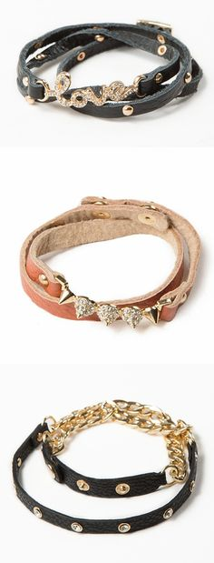 Cute leather wrap bracelets, the easiest bracelets to wear!
