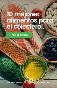 El secreto para vencer al colesterol ♥️ 10 alimentos que te sorprenderán ⬅️ Conseguirás bajar tus niveles de colesterol en sangre. . . . . #colesterol #colesterolalto #colesterolbueno #colesterolmalo #alimentossanos #almendras #aceiteolivavirgenextra #chocolate #aguacate #arandanos #legumbres #salmon #alimentatusalud #nutricionpereira