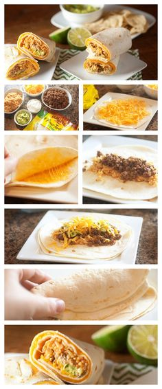Copycat Taco Bell™ Quesarito Copycat Quesarito Recipe ~ Spicy beef, seasoned rice, cheese, and guacamole all rolled up in a cheese quesadilla! Spicy Recipes, Mexican Food Recipes, Beef Recipes, Cooking Recipes, Copycat Recipes, I Love Food, Good Food, Yummy Food, Tasty
