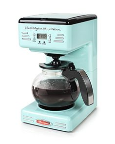 If you love sales, then you'll love these new deals on nostalgia retro programmable coffee maker - aqua blue. Percolator Coffee Maker, Coffee Maker With Grinder, Single Coffee Maker, Single Cup Coffee Maker, Best Coffee Maker, Coffee Cups, Coffee Beans, Coffee Drinks, Easy Coffee