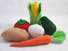 Vegetables Felt Food Patterns  Instructions