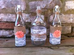Rustic/Shabby Chic Table Decor/sand ceremony set on Etsy, $35.00