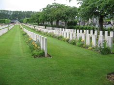 The preparations for the Somme offensive of 7|1916 brought a group of CCS (1st/1st South Midland, 21st 34th 45th & Lucknow section B) to Daours. The extension to the communal cemetery was opened & the first burials made in Plots I II Row A of Plot III & the Indian plot between 6-11|1916. The Allied advance in the spring of 1917 took the hospitals with it & no further burials were made here until 4|1918. From April to the middle of August 1918, the extension was almost a front line cemetery.