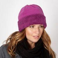 Dark pink fleece hat