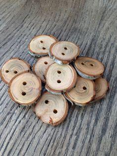 Wood Branch Buttons by LovePrayCrochetShop on Etsy