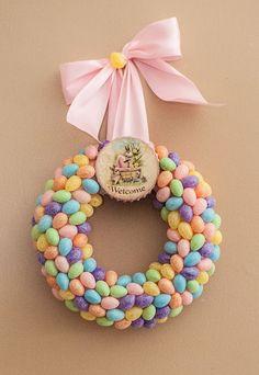 DIY Easter Wreath! So cute...