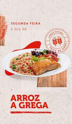 Branding // Divino Arroz on Behance Food Graphic Design, Food Menu Design, Food Poster Design, Web Design, Poster Designs, Japanese Menu, Food Promotion, Food Advertising, Food Themes